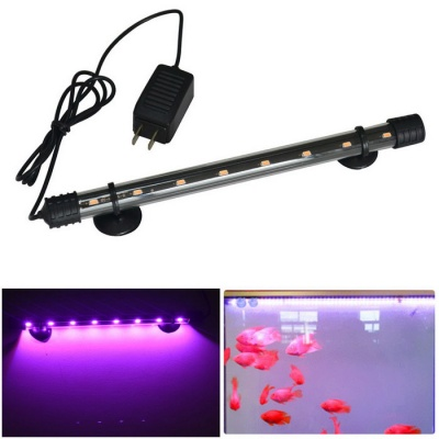 Jiawen 4W 30cm Pink Light 8-LED Aquarium Light (US Plugs)