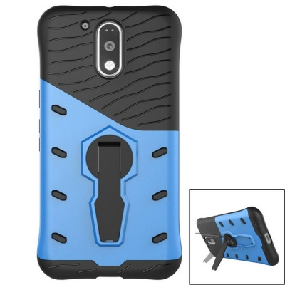Protective Silicone + PC Back Case w/ Holder Stand for MOTO G4/G4 Plus