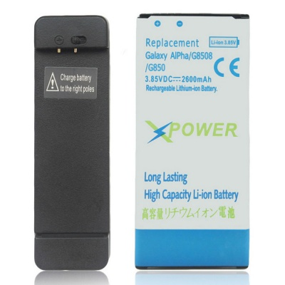 2200mAh Li-ion Battery + Charging Dock for Samsung Galaxy Alpha / G850