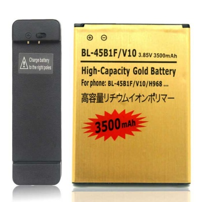 Replacemet Battery + Charging Dock Set for LG V10/BL-45B1F - Gold