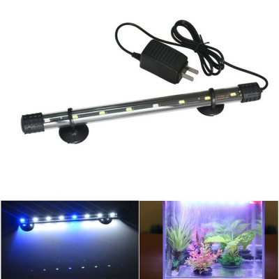 Jiawen 4W 30cm White + Blue Light 8-LED Aquarium Light (US Plugs)
