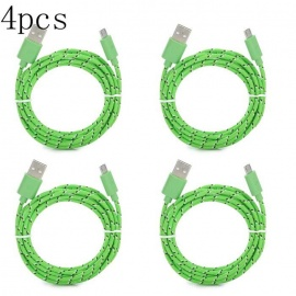 Micro USB Cable  3m Nylon Braided Fabric Android Charger Data Cable