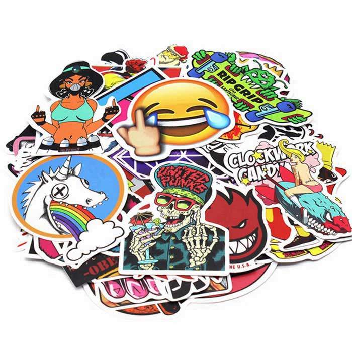 ZIQIAO Random Car Styling Funny Car Stickers (200 Pcs/ Pack)
