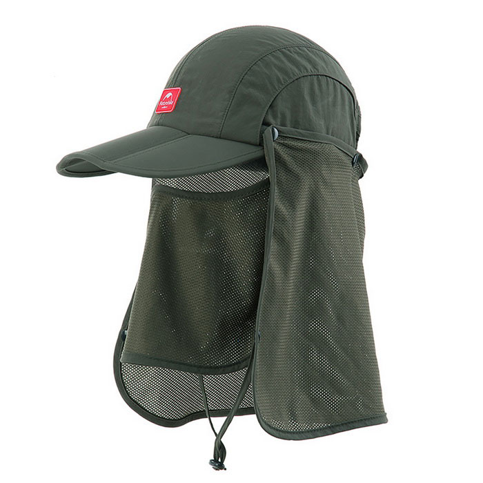 Naturehike Sun Shading Quick Drying Folding Fishing Cap - Army Green