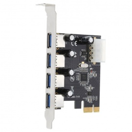 4-Port USB 3.0 PCI Express Expansion Card PCI-E Controller Card