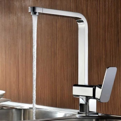 High Quality Fashion Chrome Brass 360° Rotation Kitchen Sink Faucet