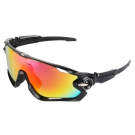 WG9270 Polarized Sport Sunglasses - Red REVO + Black