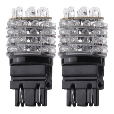 QOOK T20 3157 3156 Yellow 45-LED Tail Backup Turn Signal Bulbs (2PCS)