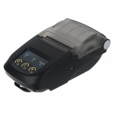 BLCR Portable Mini 58mm Bluetooth Thermal Printer - Black (EU Plug)