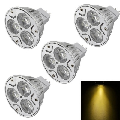 YouOKLight MR16 3W Dimmable 3-LED Spotlights Warm White Light (4PCS)