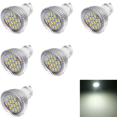 YouOKLight GU10 7W 16-SMD 5630 Cold White Light LED Spotlights (6PCS)