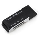 Multifunction 4 in 1 TF / SD / M2 / MS 2.0 Card Reader - Black