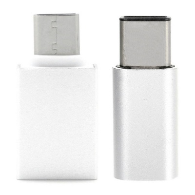 USB 3.1 Type-C to Micro USB + USB 3.0 OTG Adapters - Silver