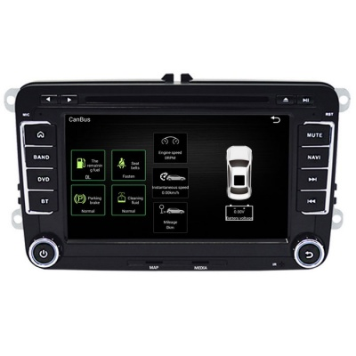 """Funrover 7"""" Android OEM Car DVD Player w/ 1024*600 GPS for VW Golf"""