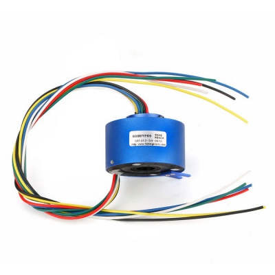 Through Hole Slip Ring 6 Circuits 10A/Circuit Hollow Shaft 12.7mm