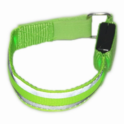 Luminous LED Green Light 3-Mode Reflective Arm Belt - Green