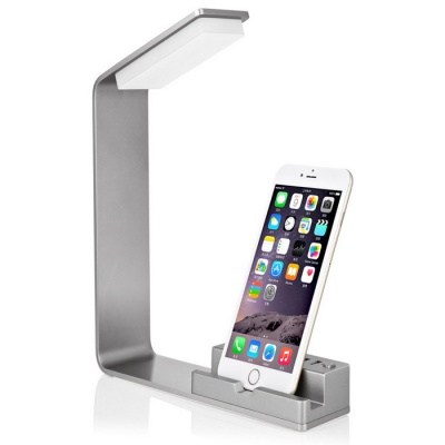 Aluminium Alloy Double USB Mobile Computer Charging Lamp