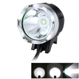 Meshion T6 LED Water Resistant 3-Mode White LED Bike Light
