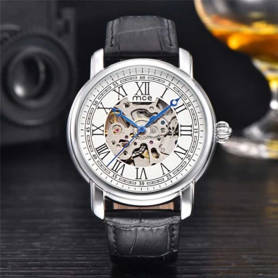 MCE High-grade Fully Automatic Mechanical Watch - Black + White
