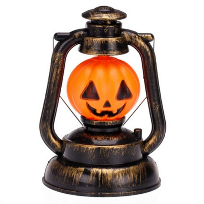 Halloween Jack-O'-Lantern Lantern Light Decorative Nightlight - Yellow