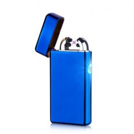Maikou USB Charging Double Cross Arc Fire Lighter - Blue