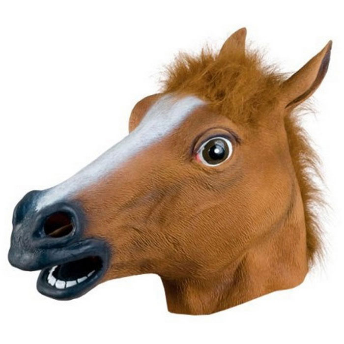 Horse Head Animal Cap Mask for Cosplay - Brown