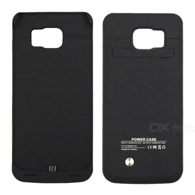 3.7V 4200mAh Li-polymer Battery Back Case for Samsung S6 Edge - Black