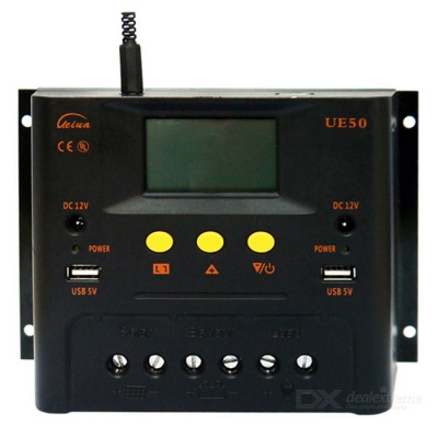 UE5024Z PWM Solar Charge Controller 12V 24V Auto Work w/ LCD Display