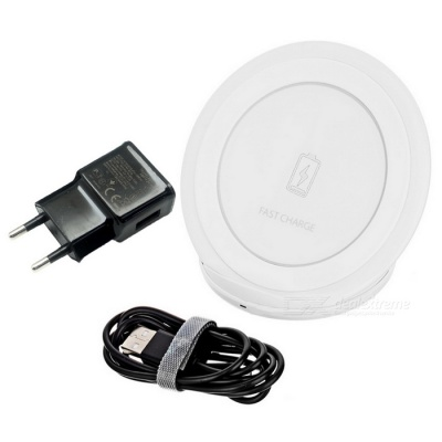 Vertical Wireless Charger for Samsung GALAXY - White (EU Plug)