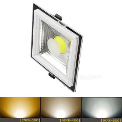 ZHISHUNJIA Square Shape 10W COB Dimmable LED Ceiling Light 2700~6500K