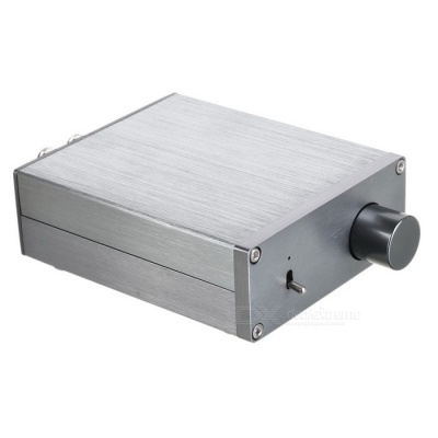 Hi-Fi Bass Tuning Aluminum Alloy Digital Amplifier - Silvery Grey