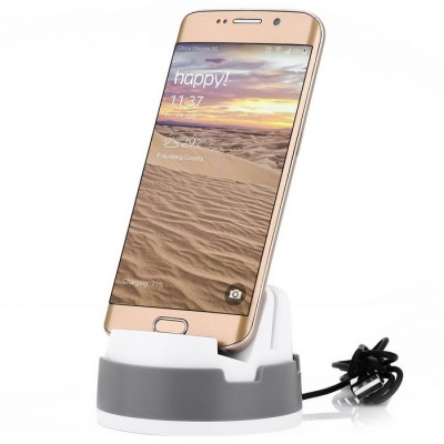 Micro USB Mobile Phone Charging Dock for Samsung / Xiaomi / HTC  - Gre