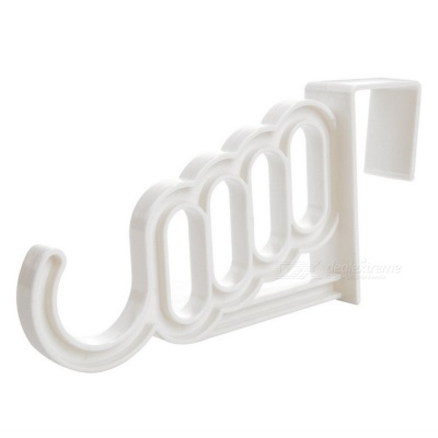 Home Decoration Five-hole Plastic Hanger Hook - White