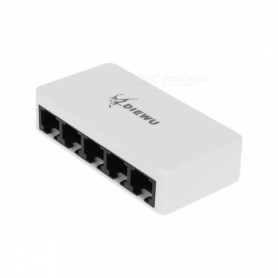 DIEWU Micro USB Powered 10/100Mbps 5-Port Ethernet Network Switch Hub