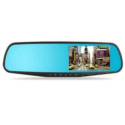 "JEDX CT507 4.3"" 2.0MP Wired Rearview Mirror Vehicle Data Recorder"