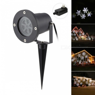 4W 6-LED Snowflake Projector Neutral White Light for Christmas Party