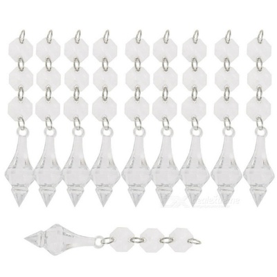 European-Style Conical Water Drops Hanging Beads for Indoor Ornaments