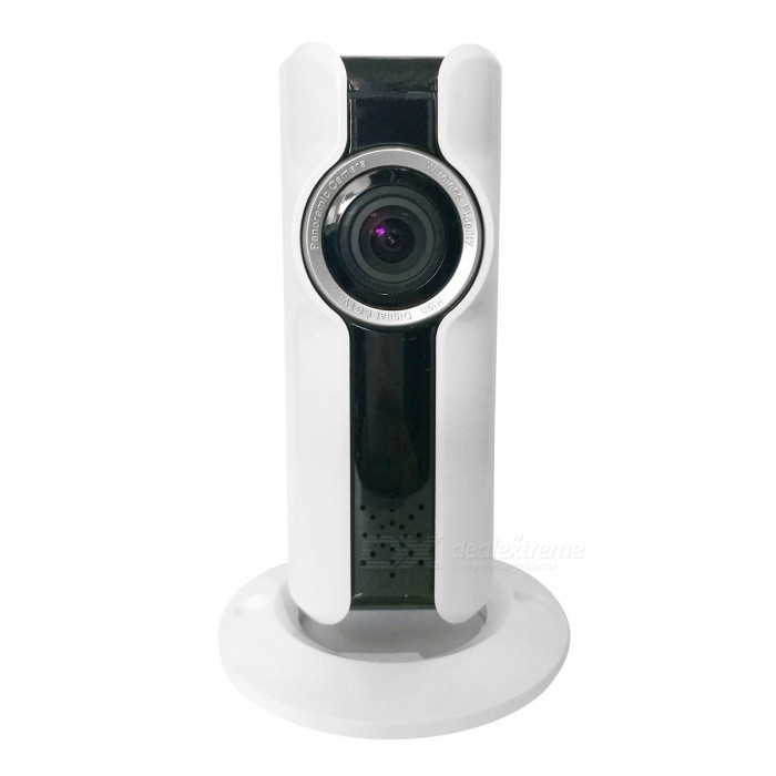 2-IR LED 180 Degree Viewing Angle Fisheye Panoramic IP Camera - White