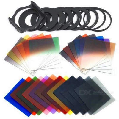 P Series 24 Color Gradient Square Panchromatic Filters Set - Black