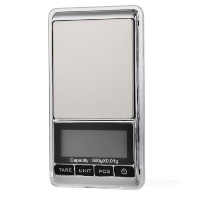 "JEDX 1.8"" Electronic 5-Digital LCD Display Jewelry Scale (500g/0.01g)"