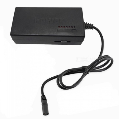 8-in-1 96W Universal AC Power Adapter for Notebook - Black (EU Plug)