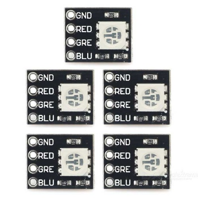 Mini FR4 RGB LED Module for Arduino / Raspberry Pi (5 PCS) - Black