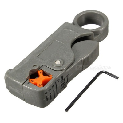 NITEO Coaxial Multifunction Stripper /Cutter Tool Rotary Coax Stripper