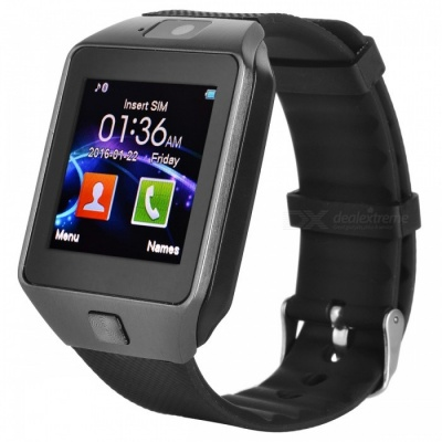Bluetooth Smart Wrist Healthy Watch for Phone - Black