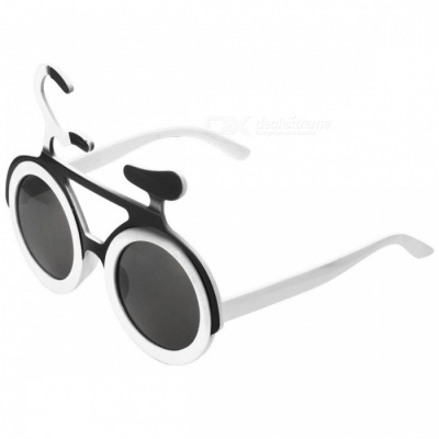 Eastor Funny Bicycle Style Party Glasses for Children - White + Black
