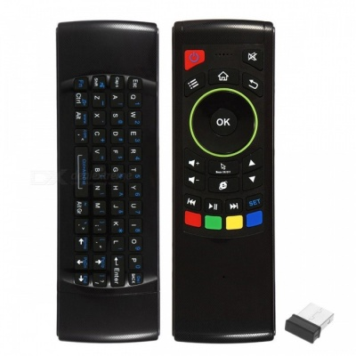 6-Axis 4-in-1 2.4G Wireless Air Mouse Keyboard w/ Gyroscope - Black
