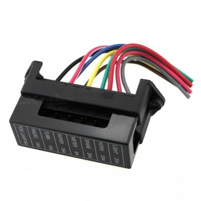 IZTOSS F689 8-Way Pure Copper Wire Circuit Fuse Box for Cars Trailers