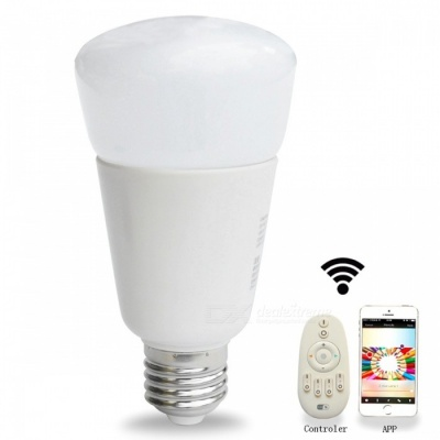 Jiawen E27 9W 31-3528SMD RGBW Dimmable Light Smart Bulb -Silver +White