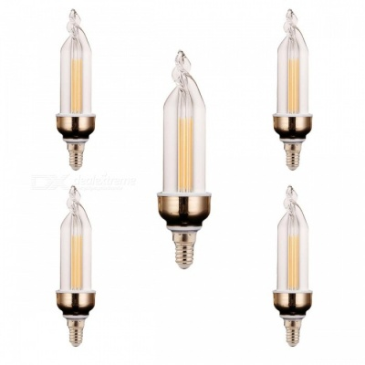 YWXLight E14 4W 2-COB LED Warm White Candle Lamps (5 PCS)
