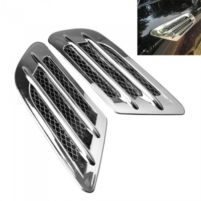 ZIQIAO Universal Car Air Simulation Vents / Stickers - Silver (2PCS)
